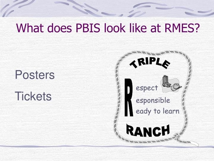What does PBIS look like at RMES?