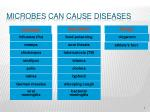 microbes can cause diseases
