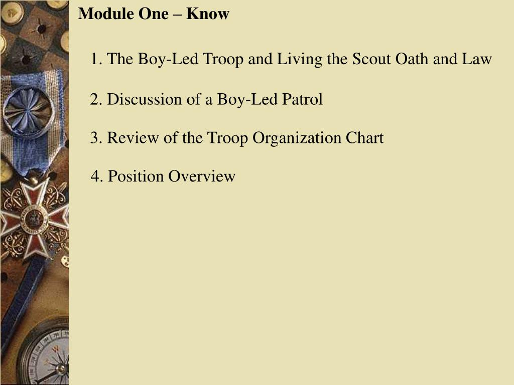 Module One – Know
