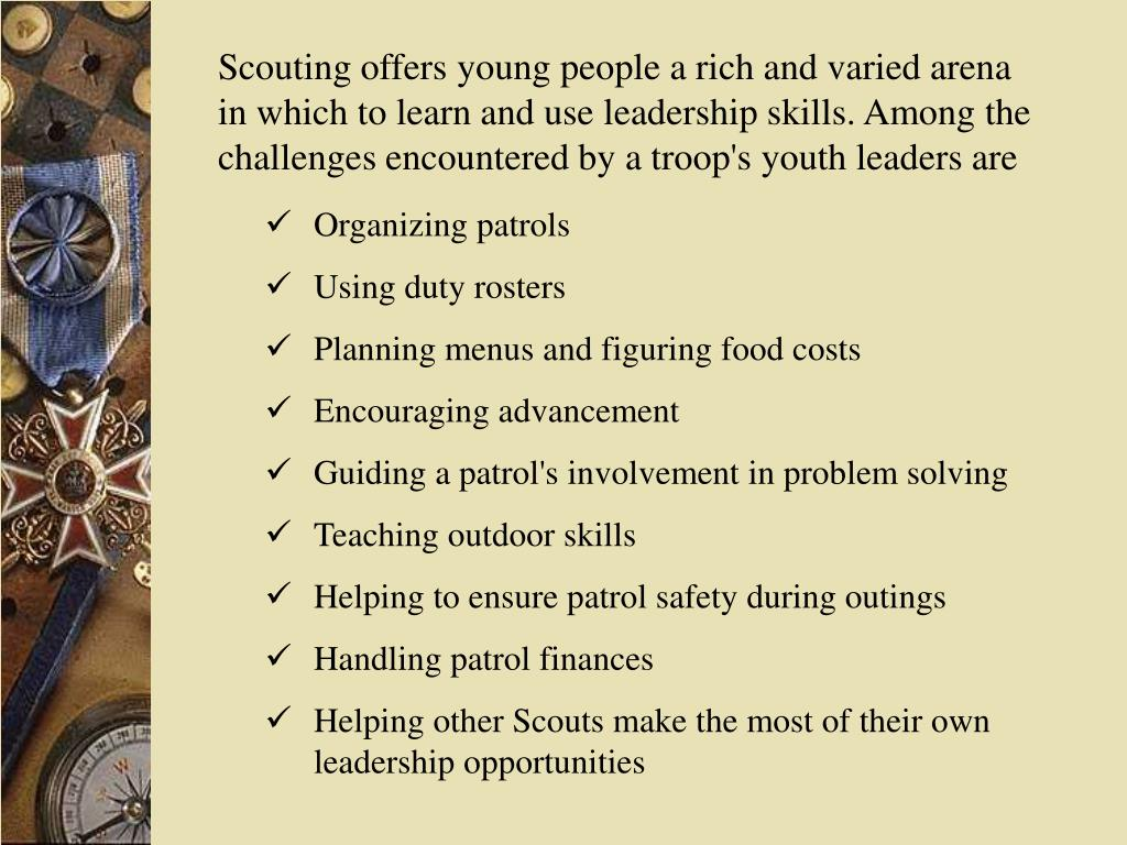 Scouting offers young people a rich and varied arena