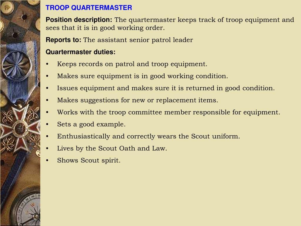 TROOP QUARTERMASTER