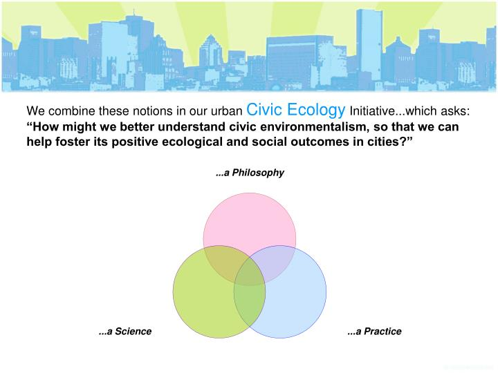 We combine these notions in our urban