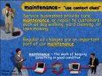 maintenance use context clues