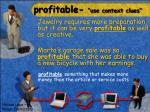 profitable use context clues