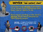 service use context clues