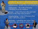 starting a business story vocabulary1