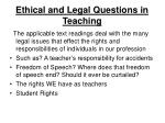 ethical and legal questions in teaching