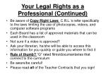 your legal rights as a professional continued15
