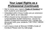 your legal rights as a professional continued17