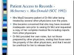 patient access to records mcinerney v macdonald scc 1992