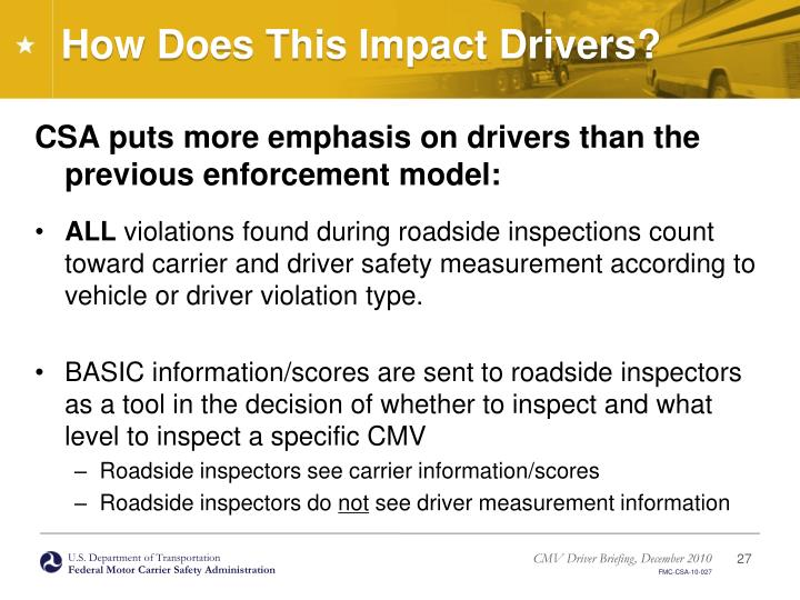 How Does This Impact Drivers?
