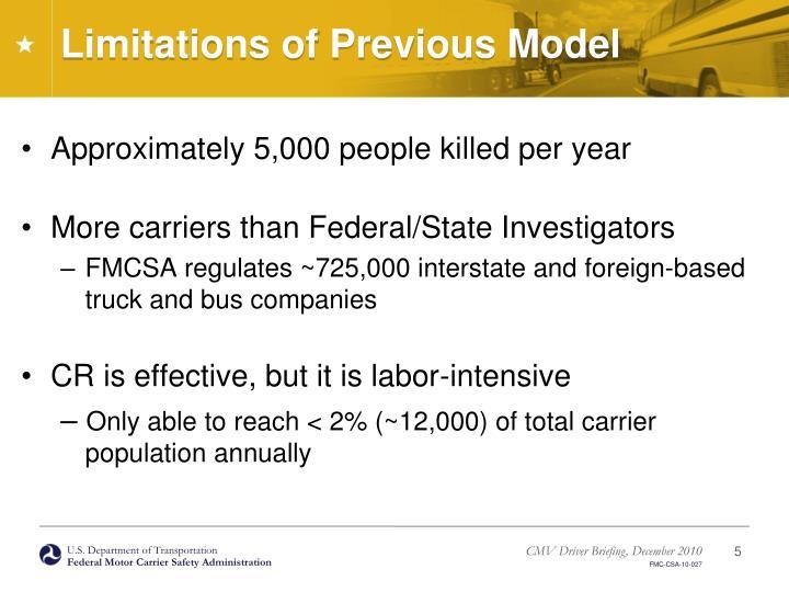 Limitations of Previous Model