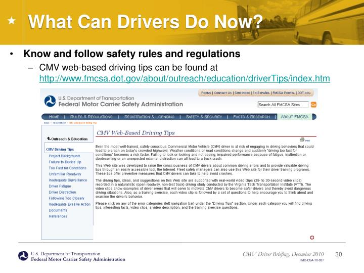 What Can Drivers Do Now?