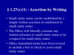 1 27 c 1 assertion by writing