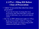 1 97 c filing ids before close of prosecution