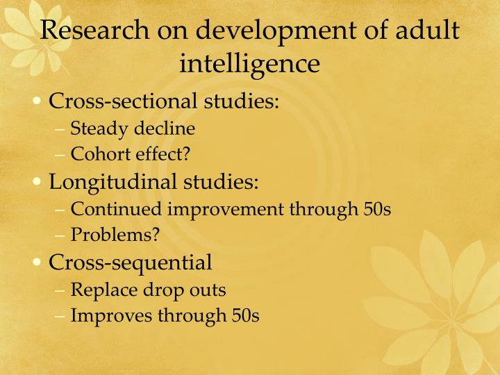 research on development of adult intelligence n.
