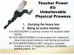 teacher power 3 unbelievable physical prowess