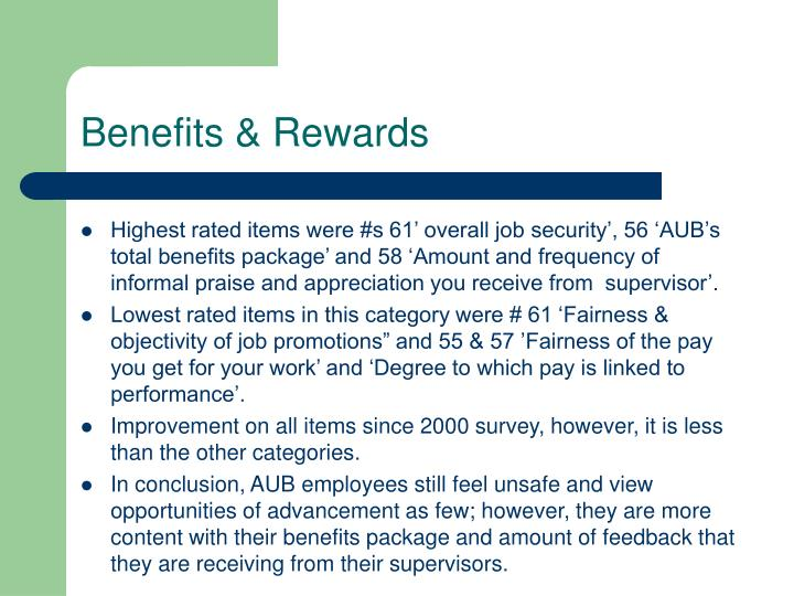 Benefits & Rewards