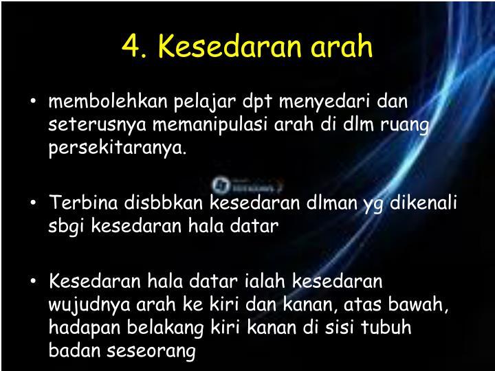 4. Kesedaran arah