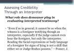 assessing credibility through an interpreter36