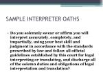 sample interpreter oaths