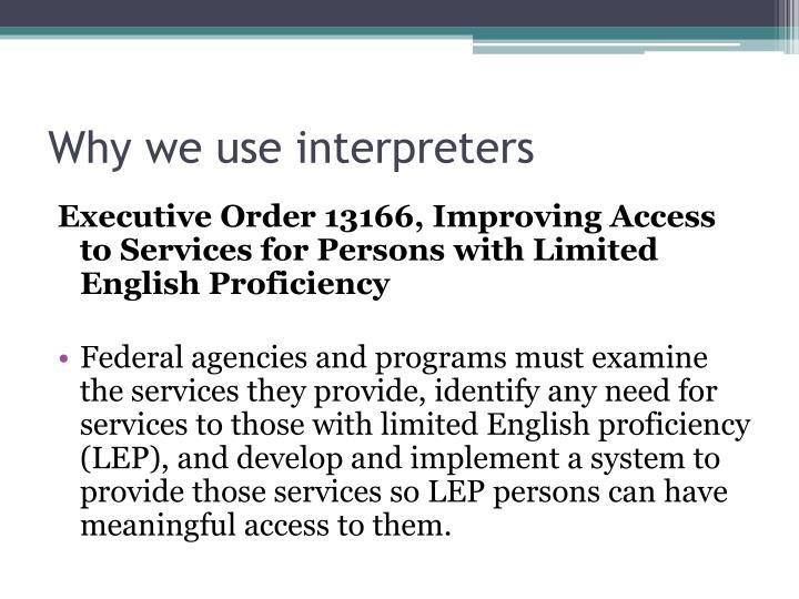 Why we use interpreters3