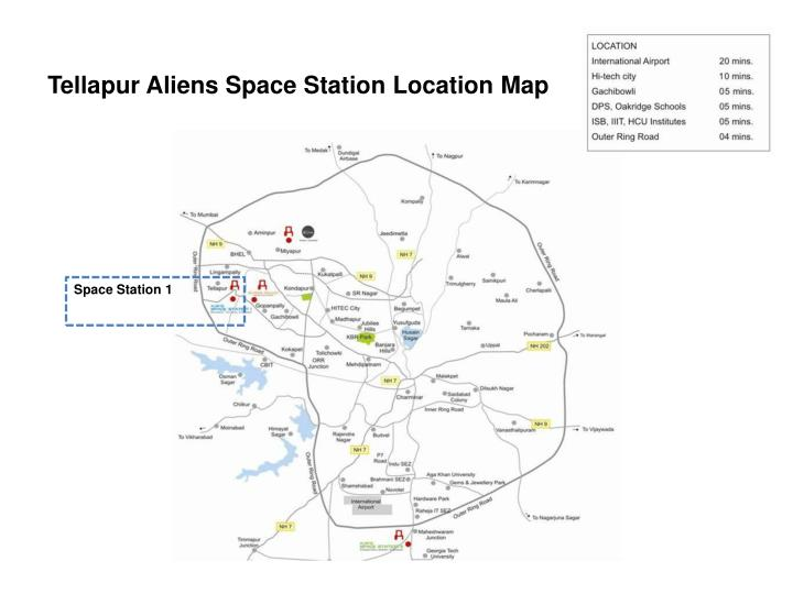 Tellapur aliens space station location map
