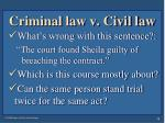 criminal law v civil law