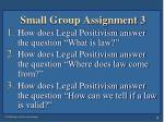 small group assignment 3