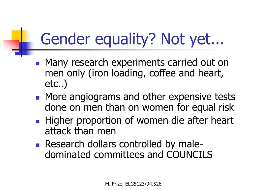 Gender equality? Not yet...