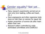 gender equality not yet