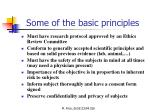 some of the basic principles