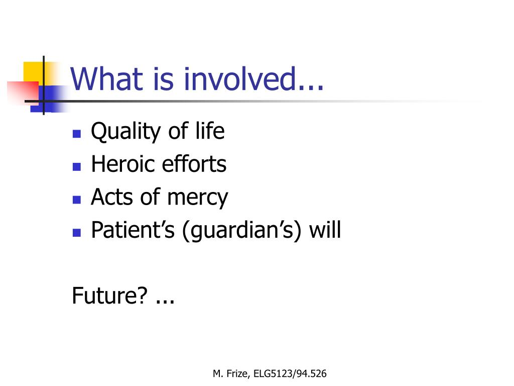 What is involved...
