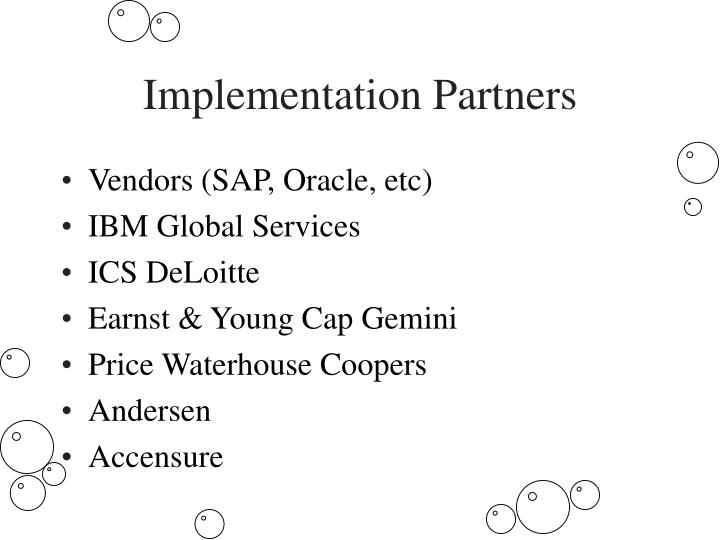 Implementation Partners