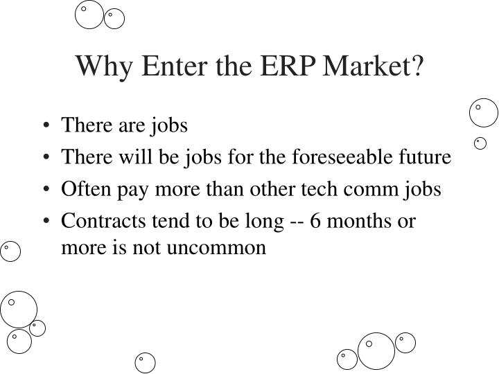 Why Enter the ERP Market?