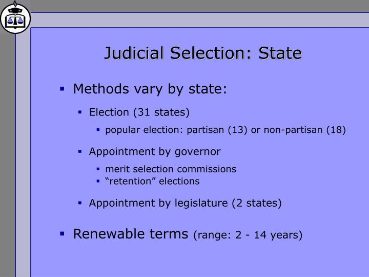 Judicial Selection: State