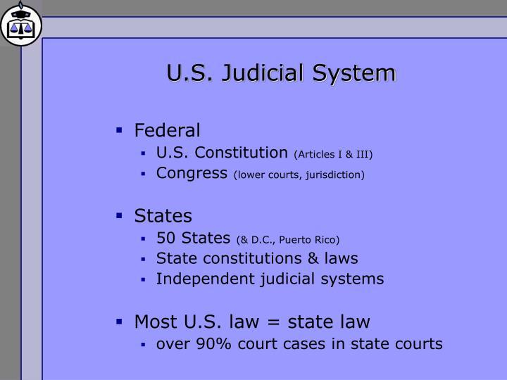 U s judicial system
