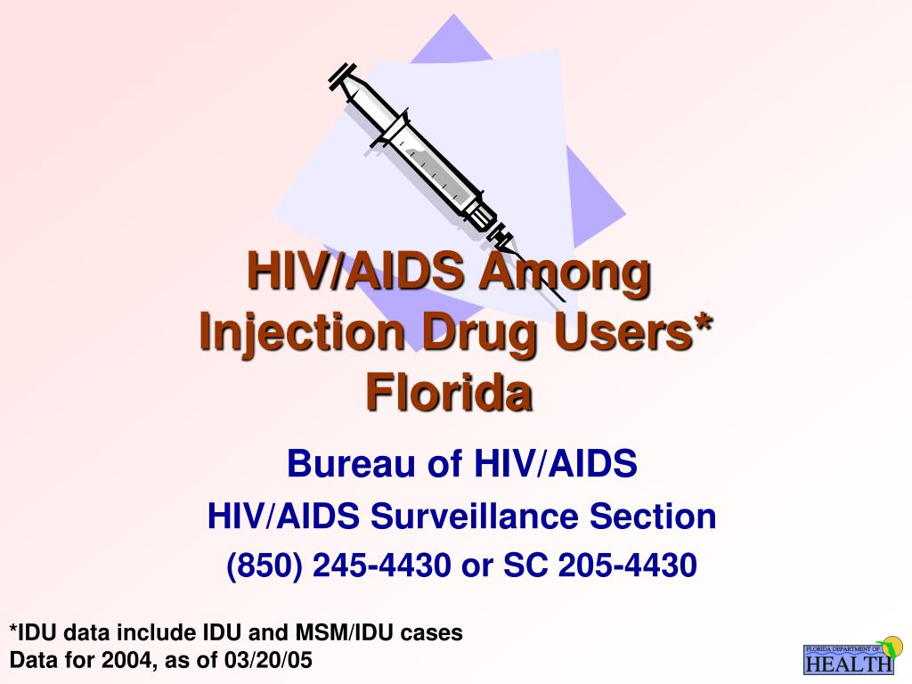 hiv aids among injection drug users florida l.