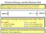 electrical energy and the electron volt