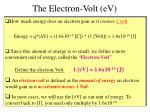 the electron volt ev