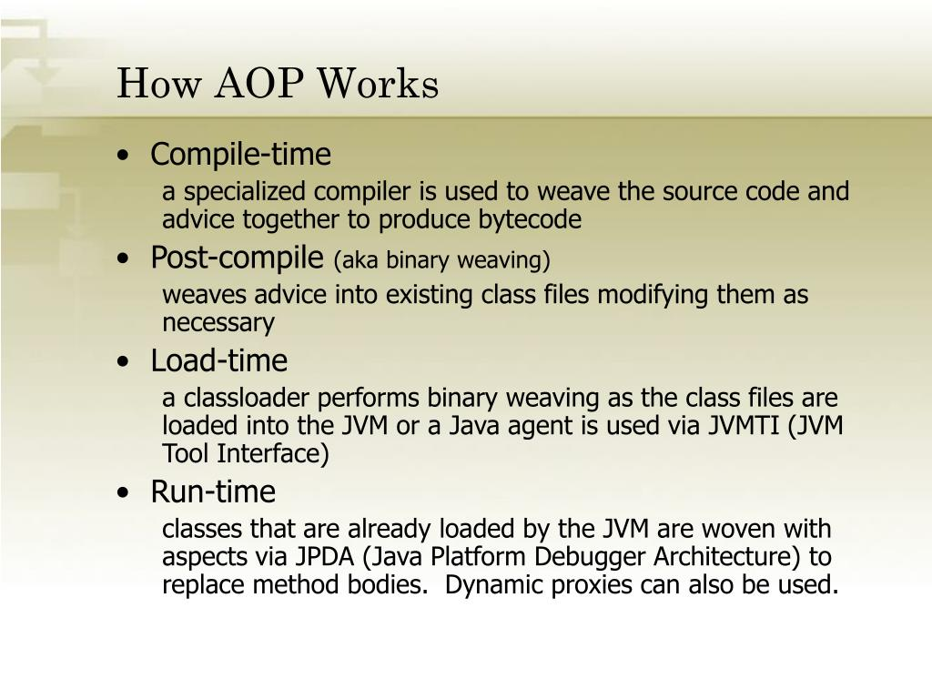 How AOP Works