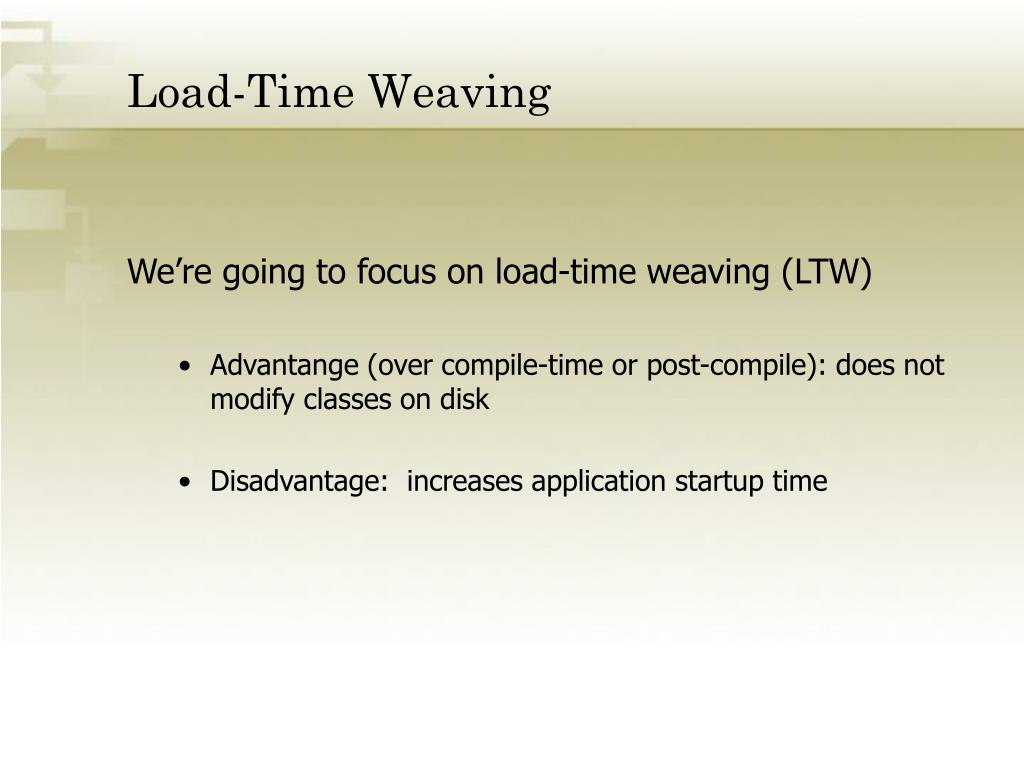 Load-Time Weaving
