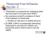 thimerosal free influenza vaccine 1