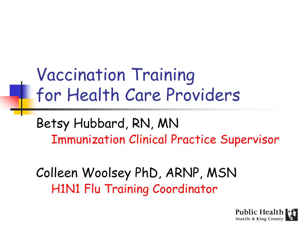 vaccination training for health care providers l.