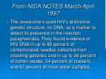 from nida notes march april 1997