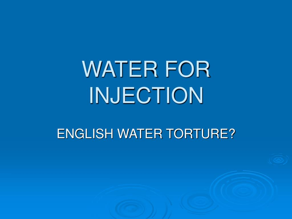water for injection l.