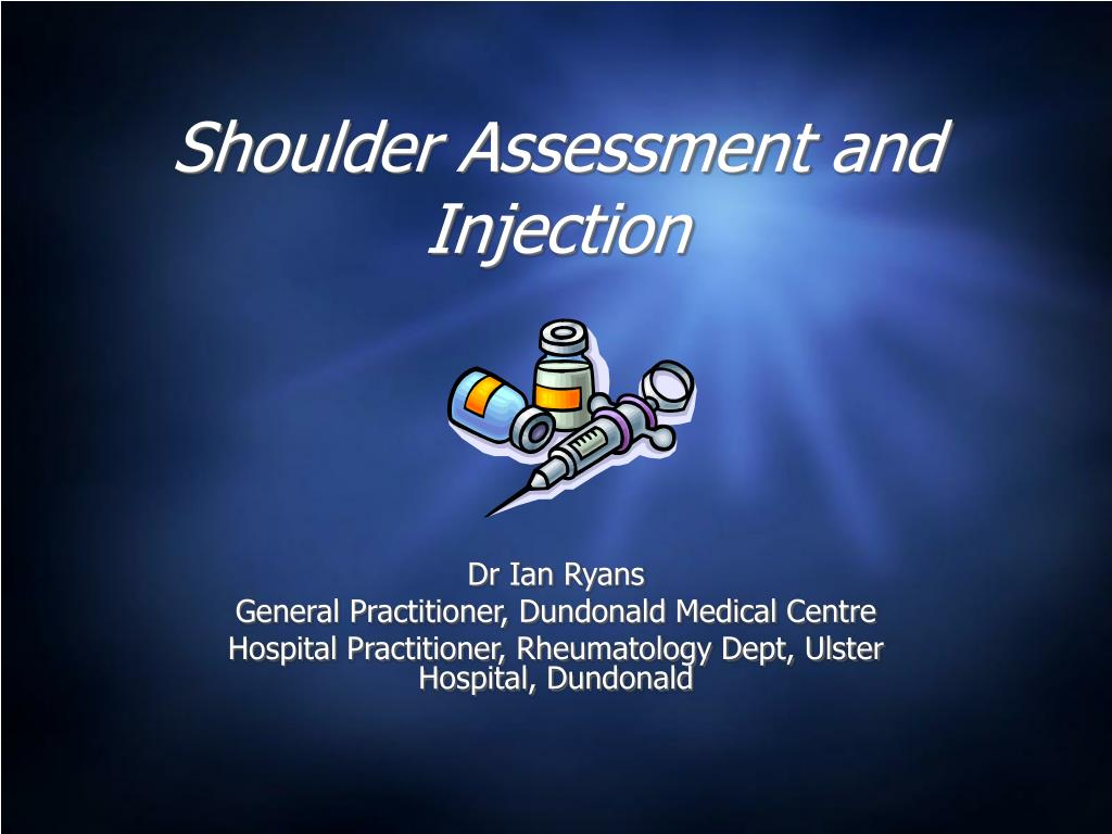 shoulder assessment and injection