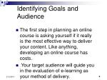 identifying goals and audience