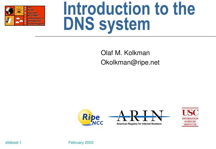 introduction to the dns system n.