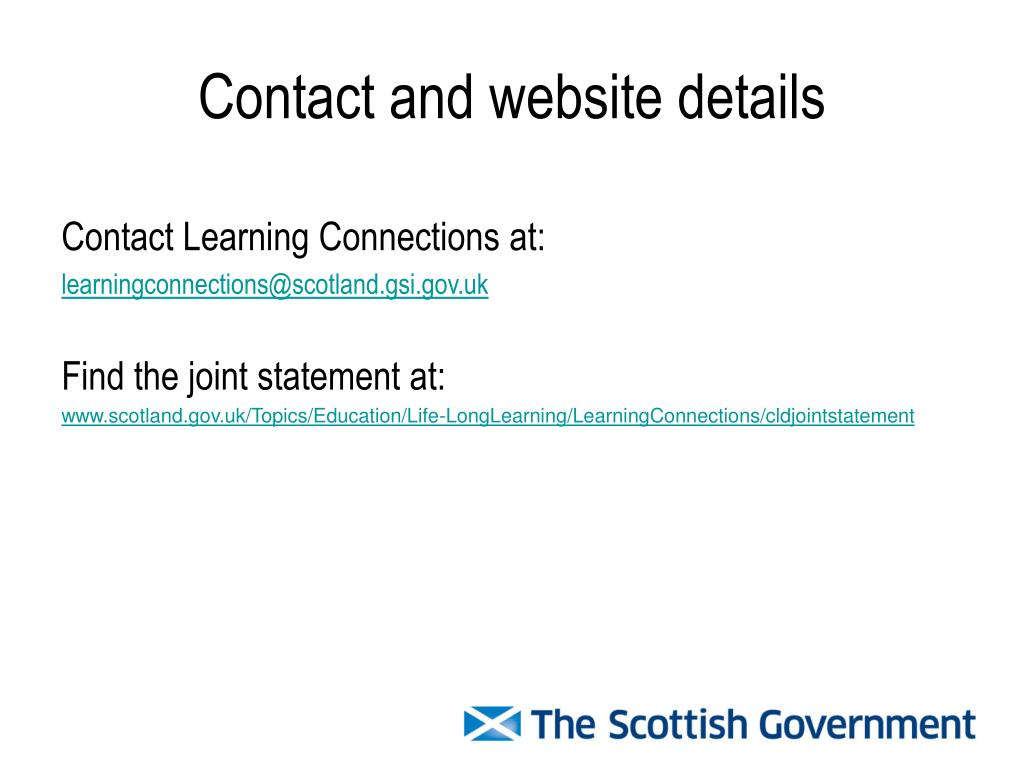 Contact and website details